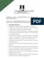 Normas para formatação de trabalhos FTFG & TFG