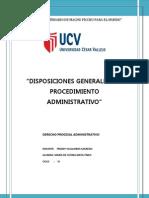 Disposiciones Generales Del Procedimiento Administrativo