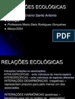 relações ecológicas harmônicas e desarmônicas