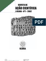Revista de Iniciaçao cientifica da ULBRA N. 1 2002
