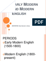 Early Modern and Modern English