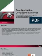 Solr Application Development Tutorial Presentation