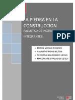 La Piedra en La Construccion (Trabajo Grupal)