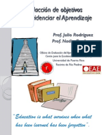 Taller - Ojetivos de Aprendizaje (Septiembre 21 de 2011)