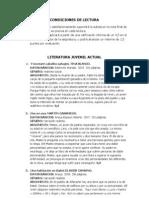 Lecturas voluntarias 4º eso  2011-2012