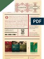 """Convite para o lançamento do n.º 3 da Revista Letras Com Vida e da colecção """"Arquivos Secretos do Vaticano"""""""