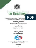 Geothermal Report