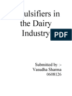 Emulsifiers in the Dairy Industry