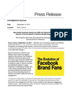 9.19.11 Facebook Study from DDB and OpinionWay
