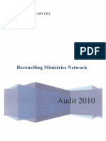 Reconciling Ministries Network - 2010 Financial Statements