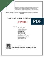 SASF Mock Exam Level II 2002 Ans