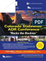 5th Annual Colorado Statewide ADR Conference