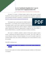 Análisis  económico de la Reforma Constitución