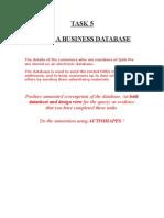 Task 5 Database