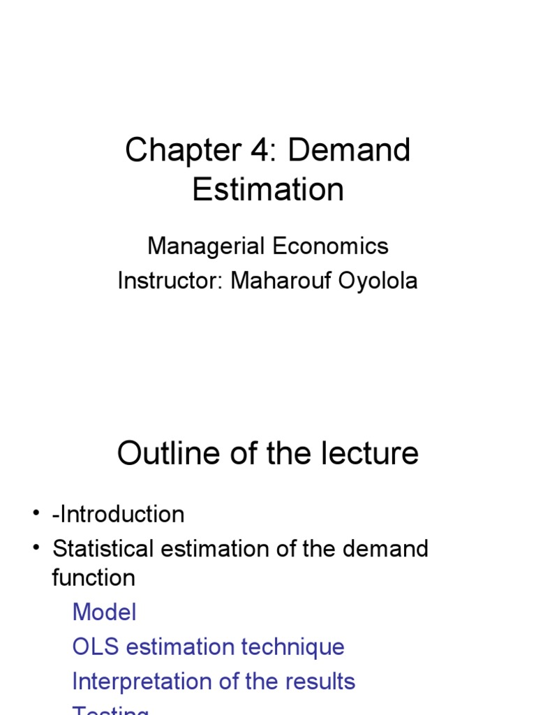 Managerial Economics Chapter 4 Correlation And Dependence