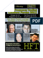 The High Frequency Trading Summit No Speed Trader Should Miss