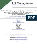 The Interrelationships Among Informal Institutions, Formal Institutions