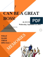 Be a Great Boss--ALA Editions Workshop