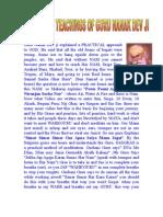 Project on Teachings of Guru Nanak Dev Ji By