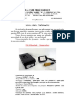 Especificações Pirógrafos