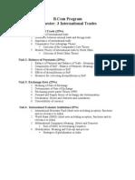 Syllabus Foreign Trade