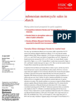 Indo Motor Cycle Sales InMarch - 18 April 2007