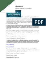 Editais Prêmios Procultura