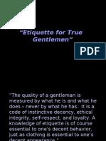 Etiquette for Gentlemen