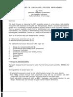 Case Studies in Continuous Process Improvement
