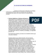 TEORÍA DE LOS DOS FACTORES DE HERZBERG