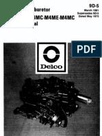 Quadrajet Service Manual 1981
