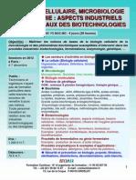 Formation Continue Biologie cellulaire, biochimie & microbiologie : Aspects industriels fondamentaux des biotechnologies 2012