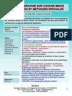 Formation Continue Chromatographie Sur Couche Mince 2012
