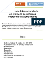 Experiencia interuniversitaria en el diseño de sistemas interactivos automatizados