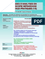 Formation Continue Microscopie Infra Rouge Pratique 2012