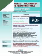 Formation Continue Rédiger Niveau 1 - Vers une rédaction facile 2012
