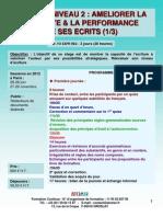 Formation Continue Rédiger Niveau 2 - Améliorer la lisibilité & la performance de ses écrits 2012