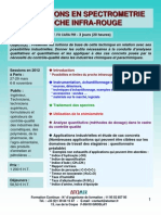 Formation Continue Spectrométrie Proche Infra Rouge 2012