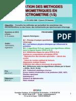 Formation Continue Utilisation des méthodes chimiométriques en spectrométrie 2012