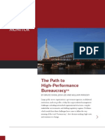 2010 Monitor the Path to High Performance Bureaucracy