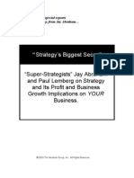 Jay Abraham - Strategy's Biggest Secret