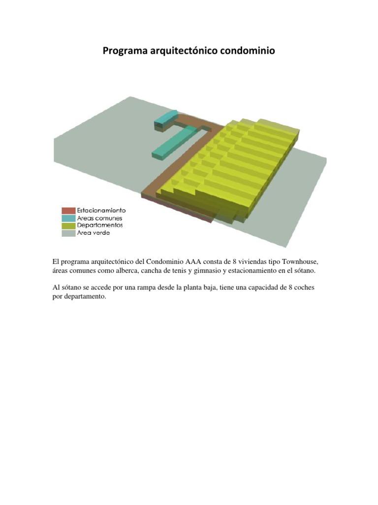 Programa arquitect nico condominio for Proyecto arquitectonico pdf