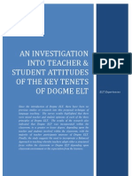 Dogme ELT - Abridged Research (2011)