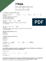 Zadaci - Stehiometrija