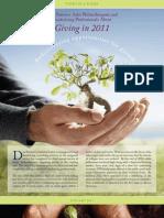 2011 Non-Profit Giving Survey-1