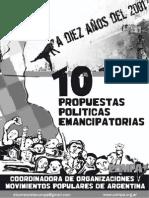 10 Propuestas Políticas Emancipatorias