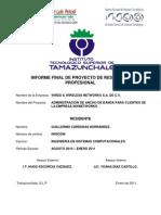 Informe Final de Proyecto de Residencia Profesional