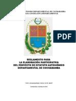 Reglamento para la Elaboracion Participativa del Estatuto de Cochabamba