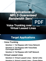 Application of MPLS Guaranteed Bandwidth Services