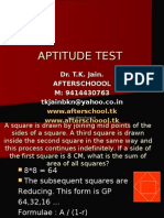 19 June Aptitude Test